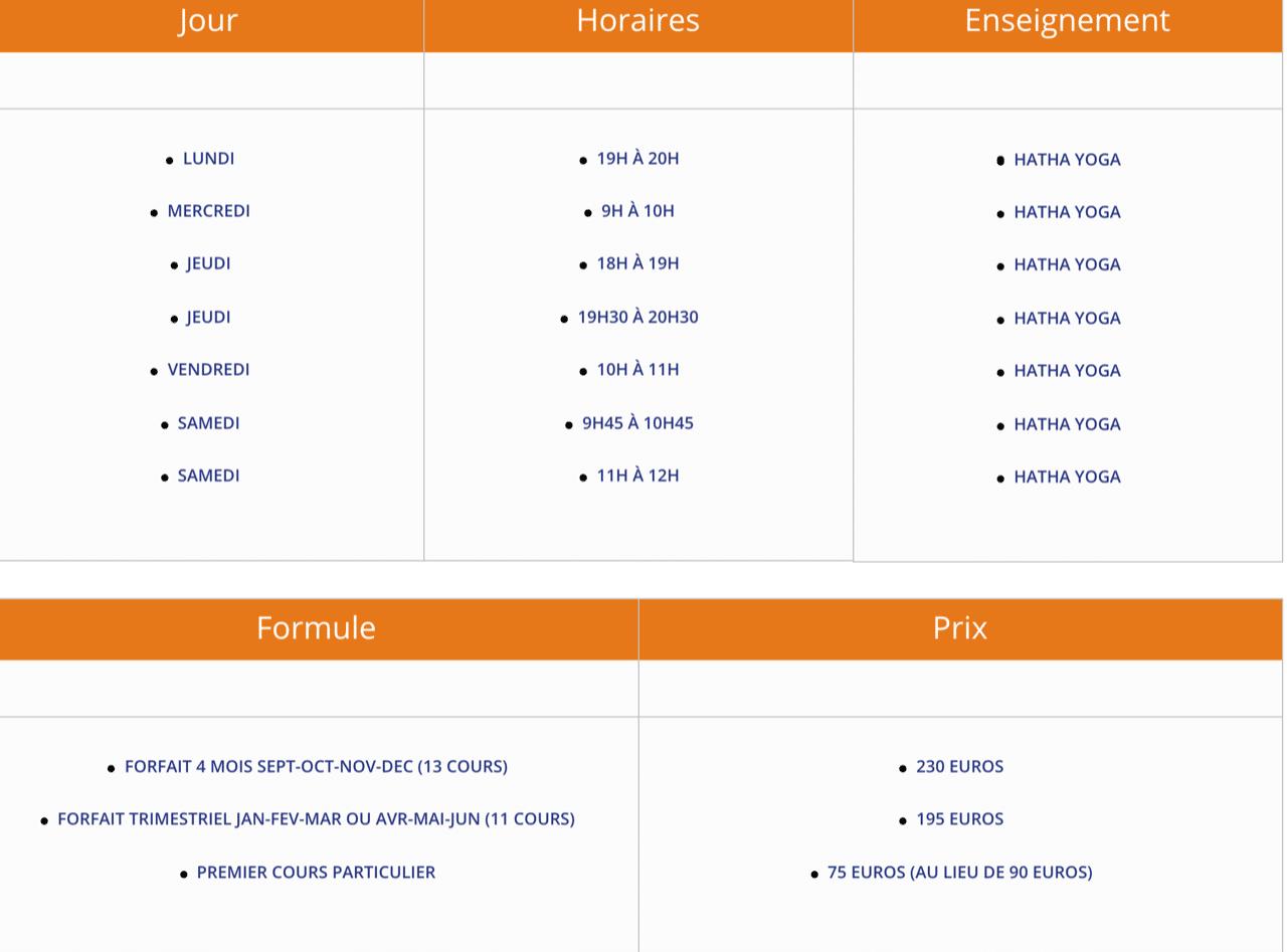Horaires et tarifs des cours à Ermont